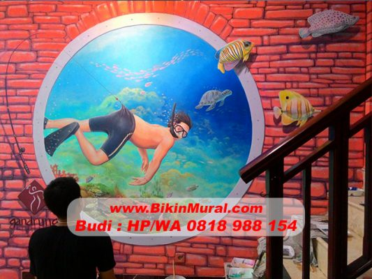 Jasa Mural Hotel di Lombok