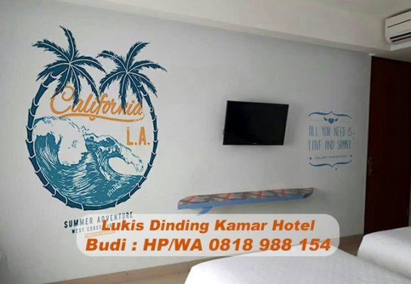 Jasa lukis dinding kamar hotel di bandung 0818 988 154 for Dekor kamar hotel di bandung