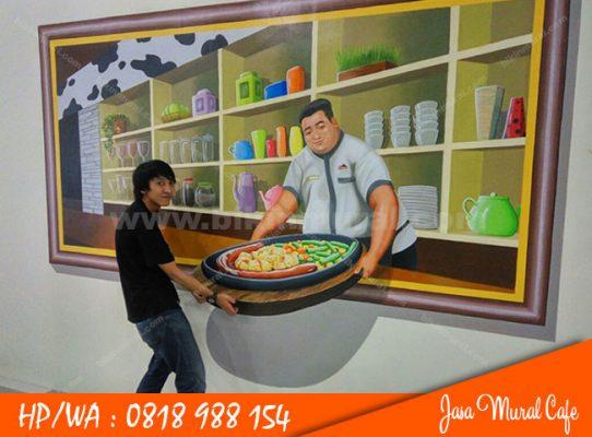 Jasa Mural Cafe Surabaya