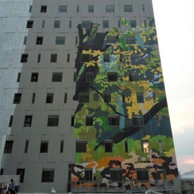 Mural Terbesar di Indonesia Tampak Depan