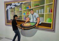 Lukis Dinding Cafe 3D
