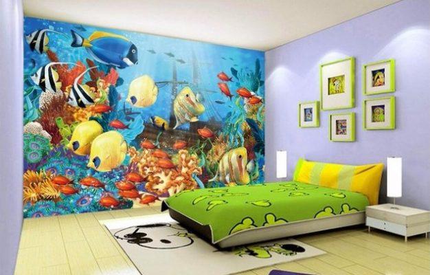 Lukisan 3D Dinding Kamar