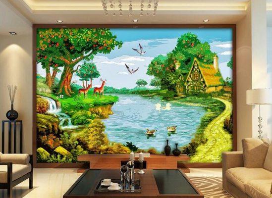 Lukisan Dinding 3D di Rumah