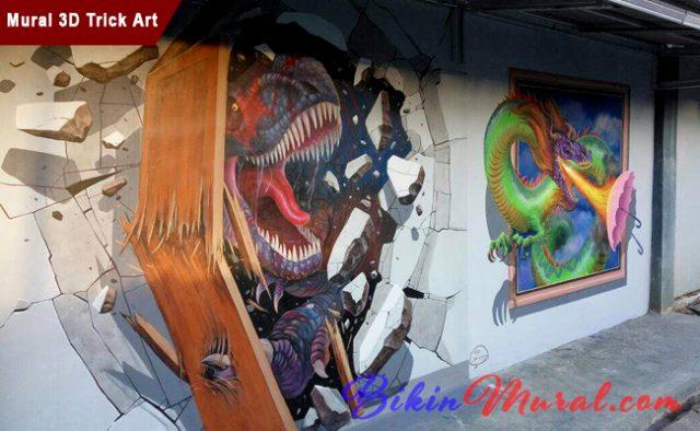 Mural 3D Trick Art
