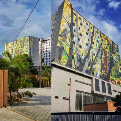 Mural Terbesar di Indonesia Tampak Samping