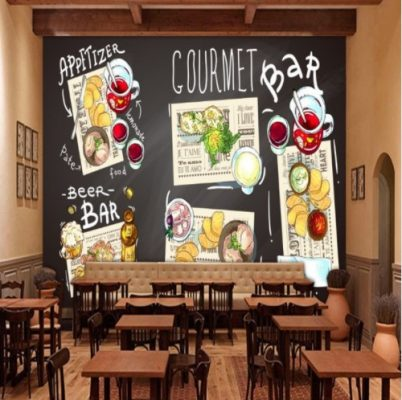 Lukis Dinding Cafe Dekoratif
