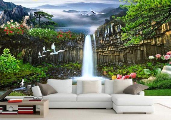 Lukisan Dinding Pemandangan