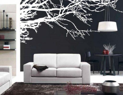 Lukisan Dinding Ruang Tamu Hitam Putih
