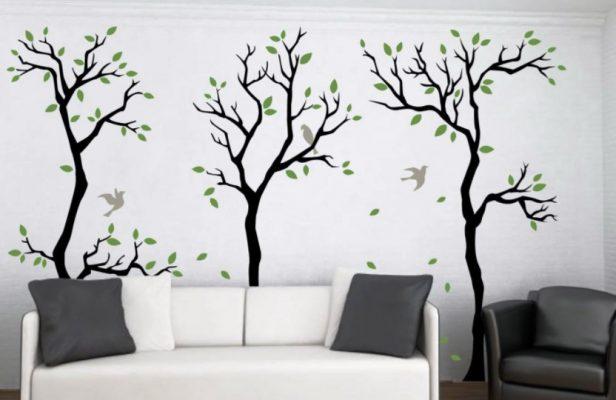 Lukisan Dinding Ruang Tamu Sederhana