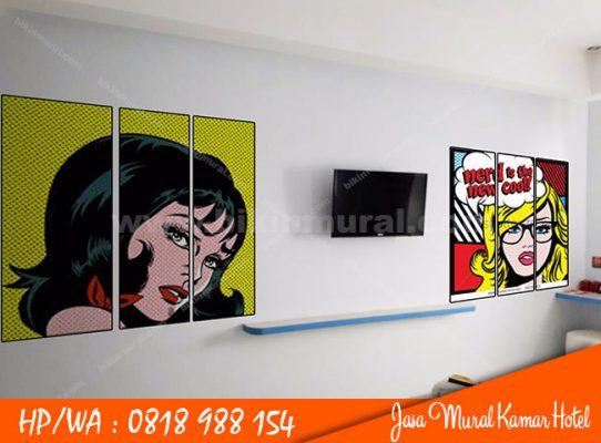 Jasa Mural Kamar Hotel di Medan